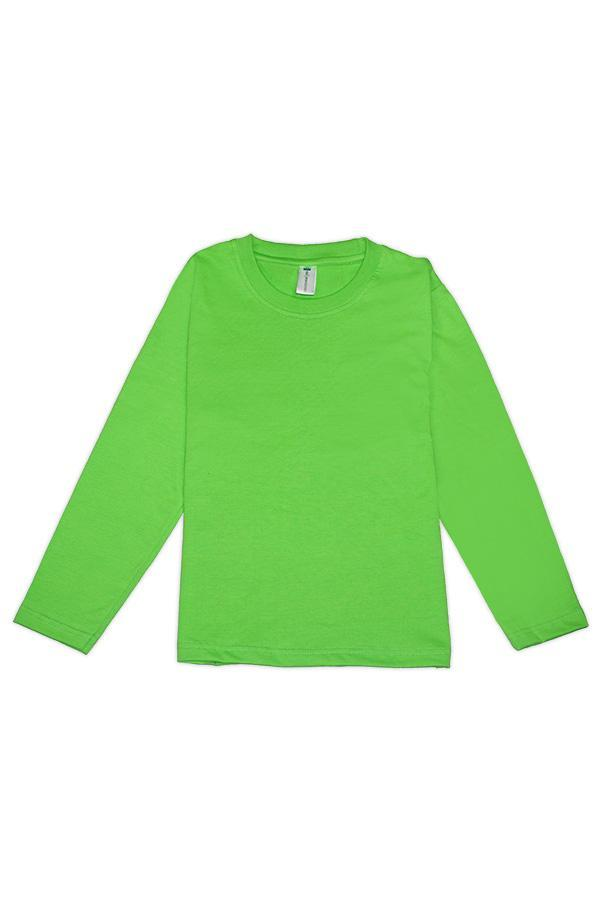 MD Kids Fullycombed Long Sleeve - Apple Green